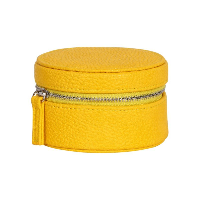 Mele & Co. Joy Faux Leather Travel Jewelry Case in Sunflower