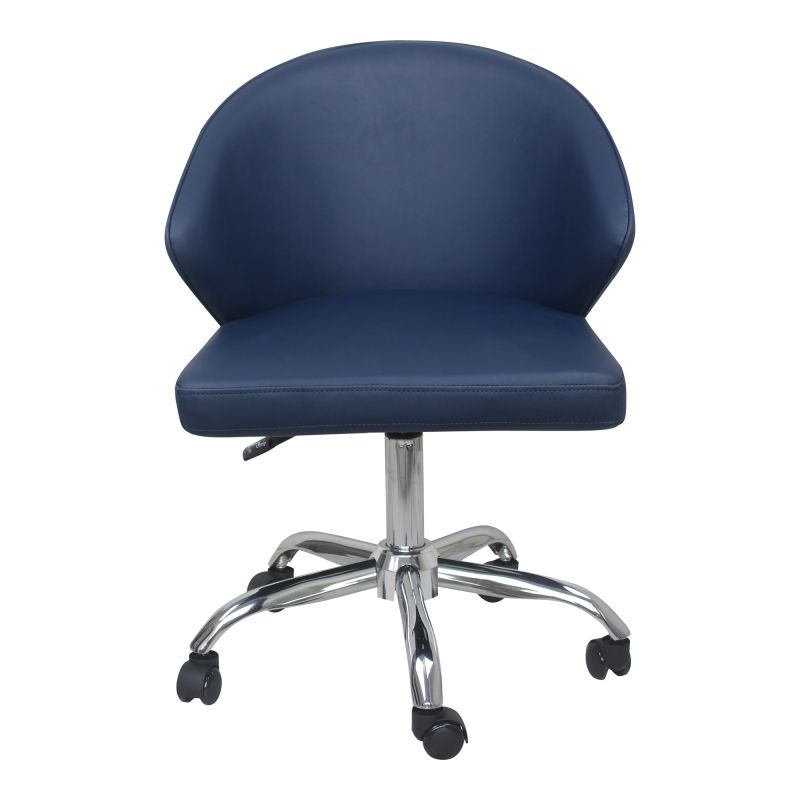 Moe's Home Collection Albus Swivel Office Chair Blue (UU-1015-19)