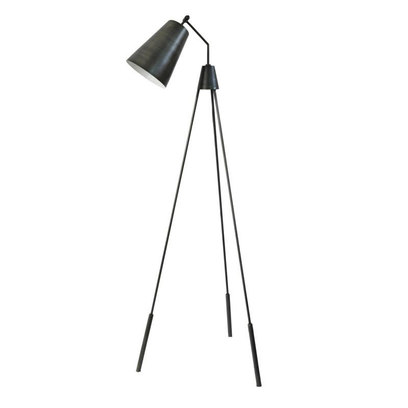 Moe's Home Collection Amato Floor Lamp in Silver (FD-1000-30)