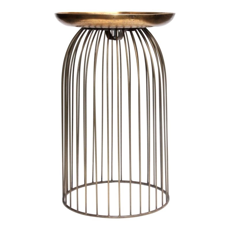 Moe's Home Collection Aviary Accent Table Small Antique Brass (QK-1020-51)