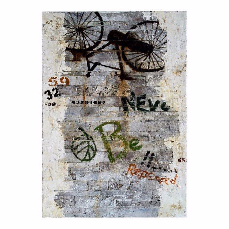 Moe's Home Collection Bike Graffiti Wall Decor (ZG-1030-37)