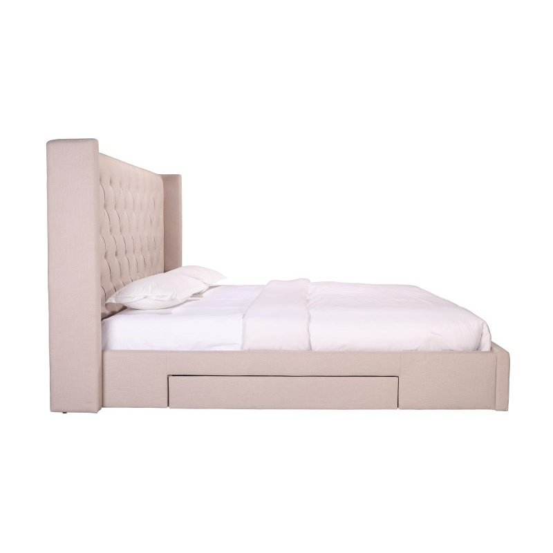 Moe's Home Collection Blair 2-Drawer California King Bed in Cappuccino (RN-1084-14)