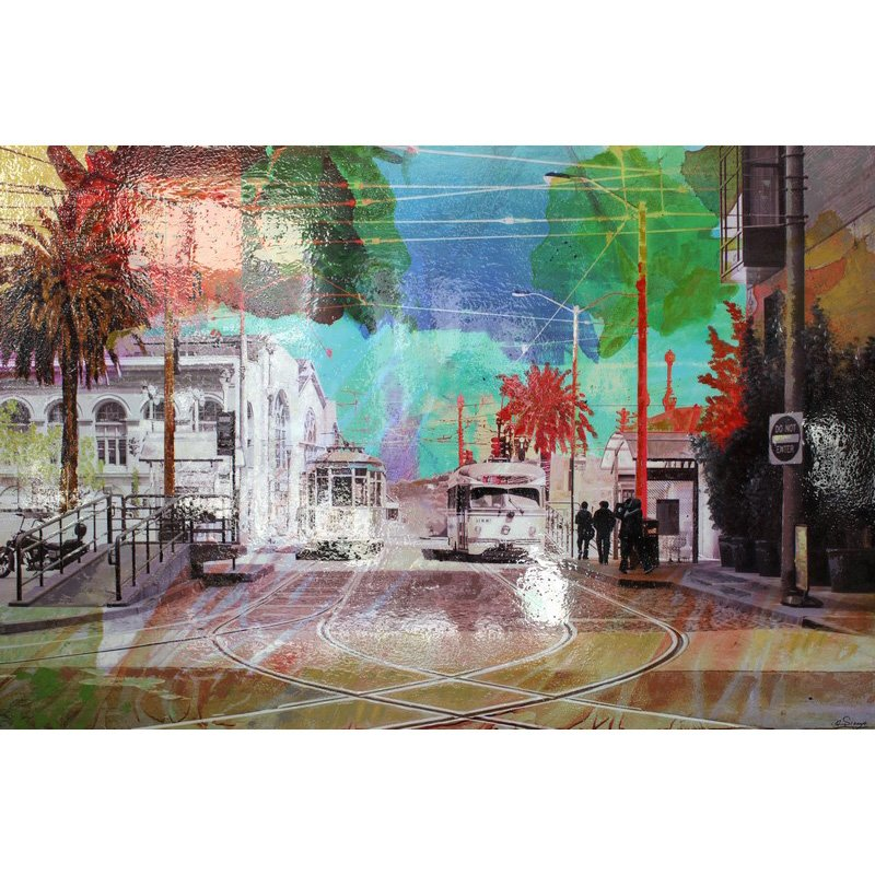 Moe's Home Collection Blue Street Wall Decor (RX-1008-37)