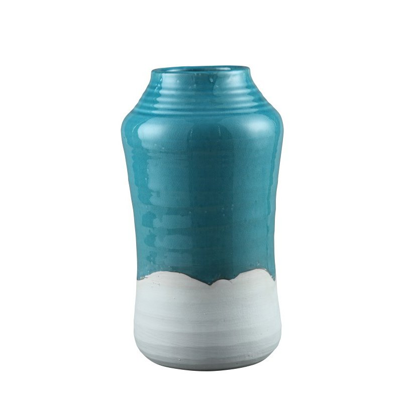 Moe's Home Collection Border Vase in Light Blue (PY-1103-36)