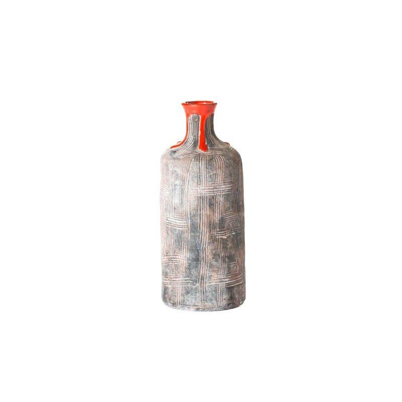 Moe's Home Collection Bottleneck Vase in Red (PY-1091-04)