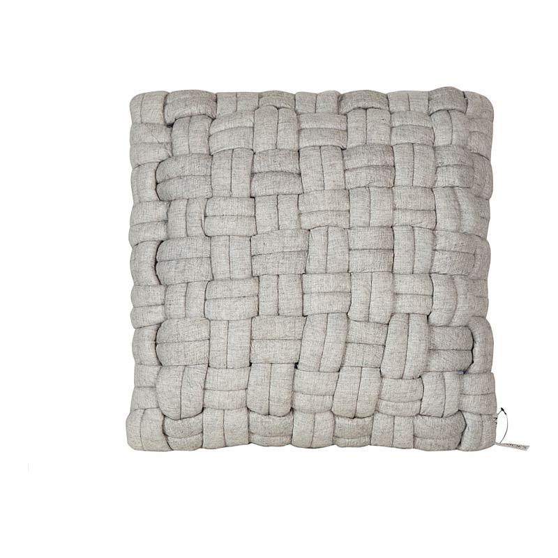Moe's Home Collection Bronya Wool Pillow Pebble Grey (LK-1003-29)