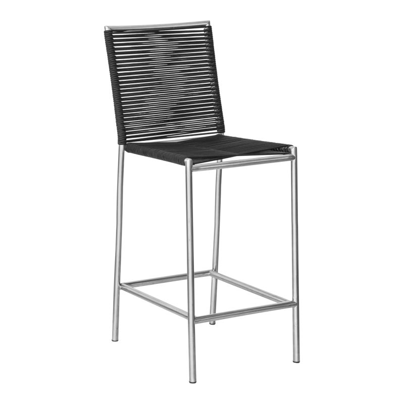 Moe's Home Collection Brynn Outdoor Barstool Black (BQ-1034-15)