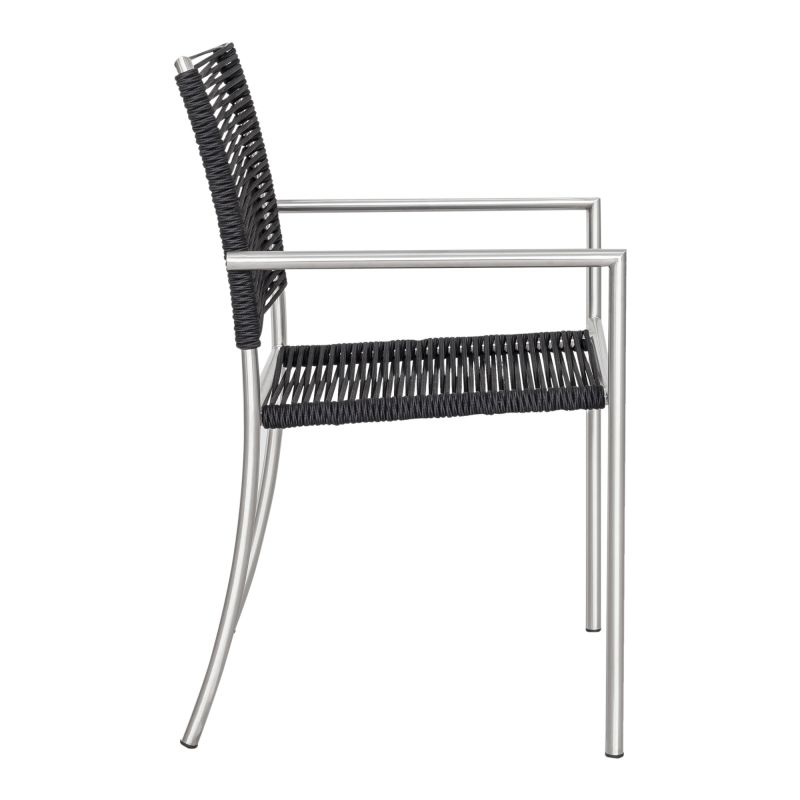 Moe's Home Collection Brynn Outdoor Dining Chair Black-M4 (BQ-1029-15)