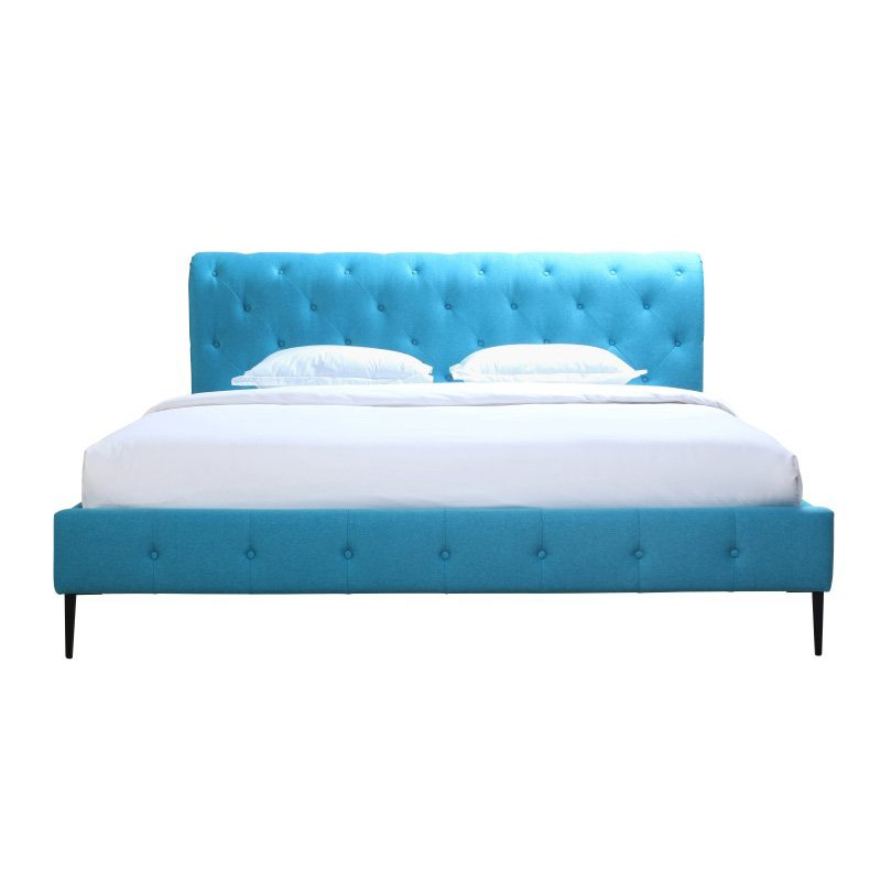 Moe's Home Collection Canal King Bed in Peacock Blue (RN-1043-26)