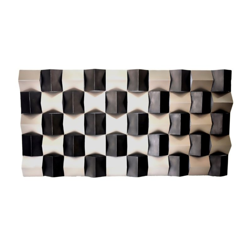 Moe's Home Collection Checkered Wall Decor Rectangular (MJ-1017-30)