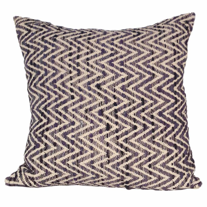 Moe's Home Collection Chevron Feather Cushion Charcoal 25X25 (IE-1038-07)