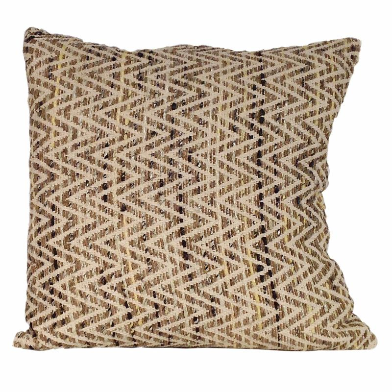 Moe's Home Collection Chevron Feather Cushion Natural 25X25 (IE-1038-24)