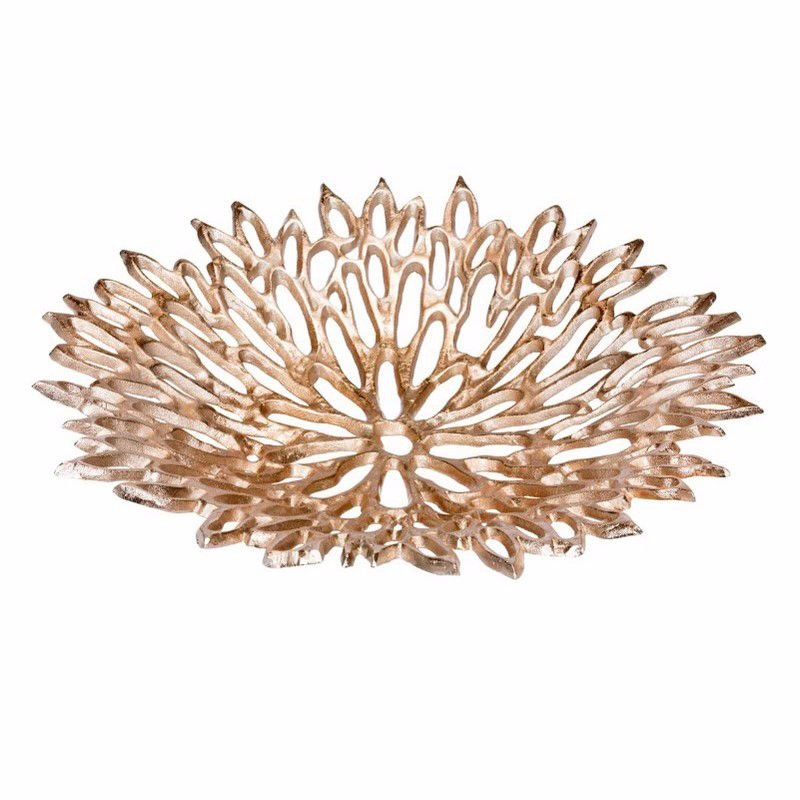 Moe's Home Collection Chrysanthemum Platter in Large Silver (IX-1007-30)