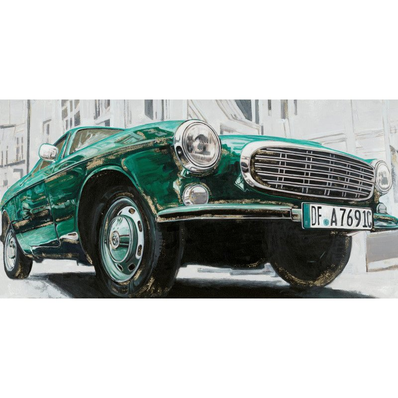 Moe's Home Collection Classic Euro Car Green Wall Decor (RE-1180-37)