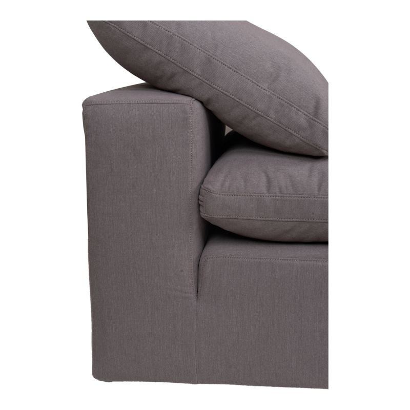 Moe's Home Collection Clay Armless Chair Livesmart Fabric Light Grey (YJ-1001-29)