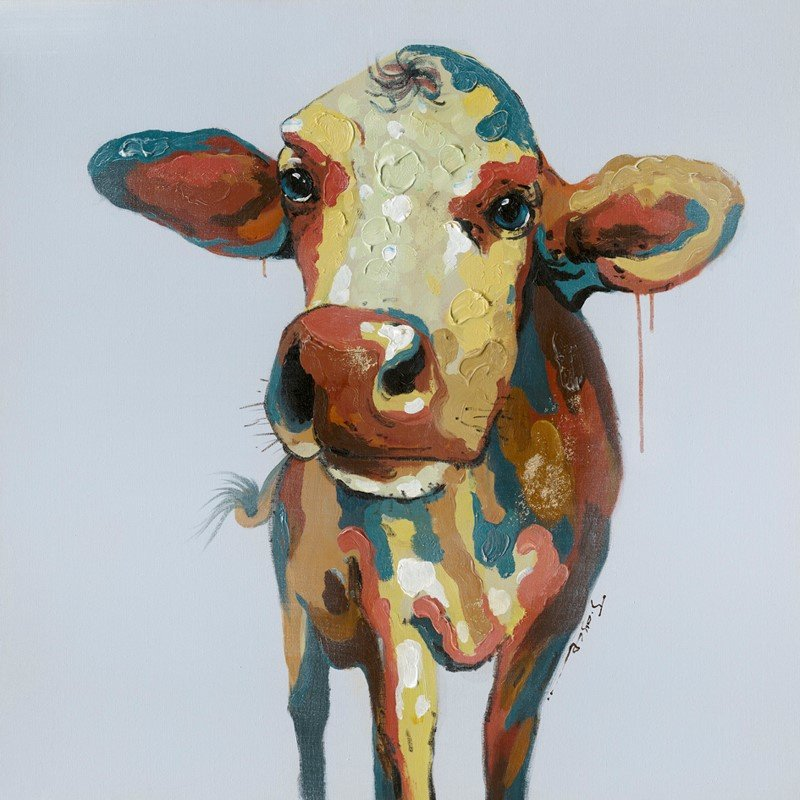 Moe's Home Collection Colorful Cow Wall Decor (RE-1118-37)