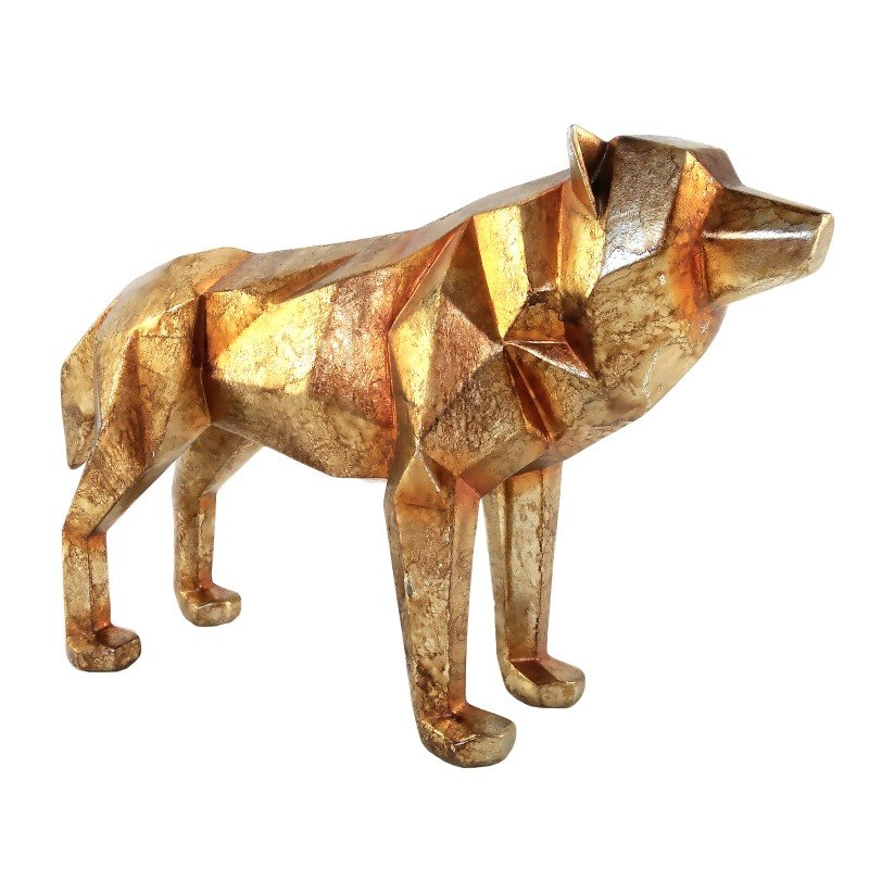 Moe's Home Collection Cubist Wolf Gold (SG-1015-32)