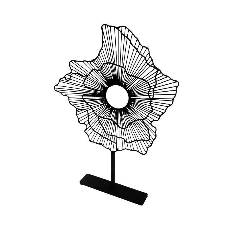 Moe's Home Collection Deco Flower On Stand in Black Small (MX-1001-02)