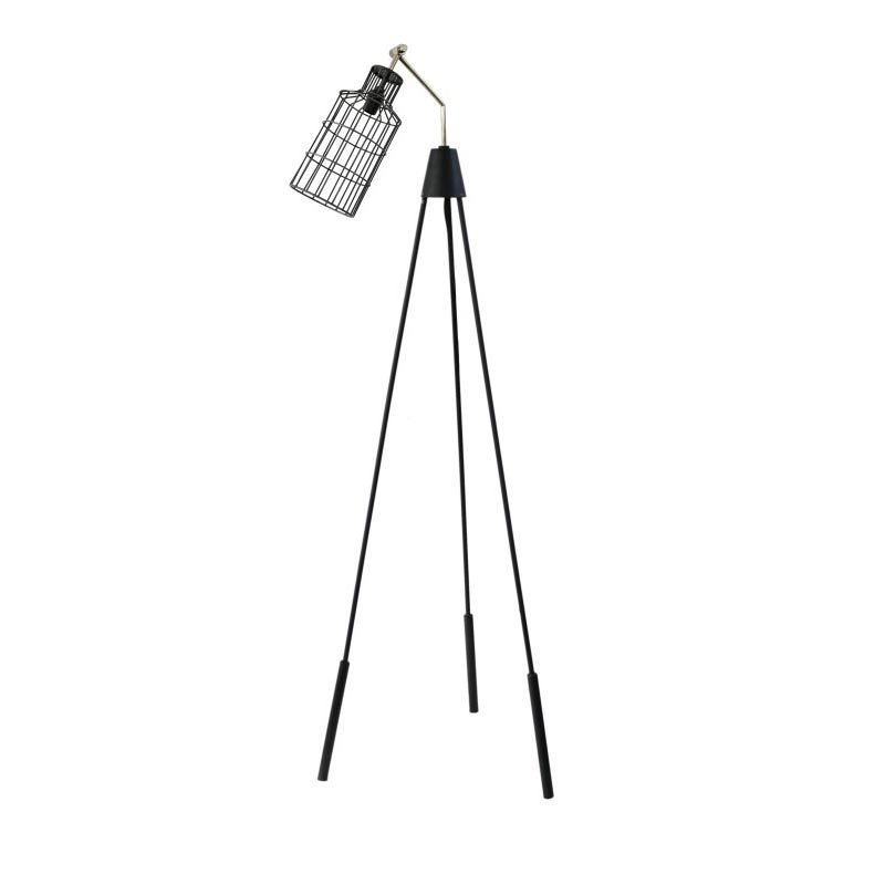Moe's Home Collection Desi Floor Lamp Black with Silver Neck (FD-1003-02)