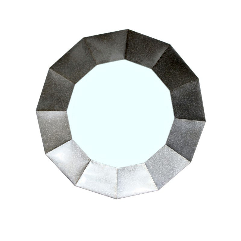 Moe's Home Collection Dodecagon Mirror in Silver (HW-1006-30)