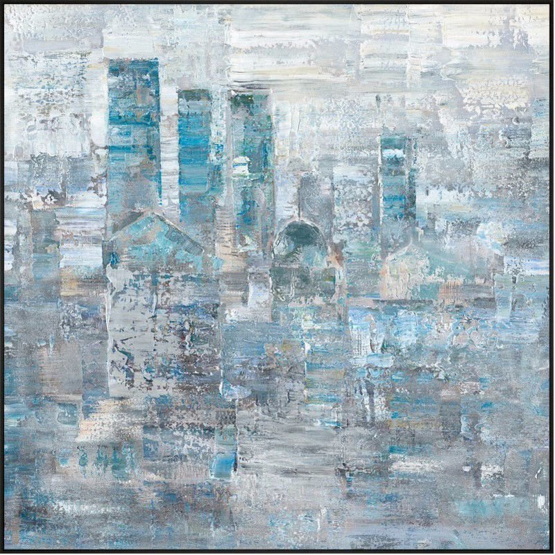 Moe's Home Collection Faded City Wall Decor (RE-1135-37)