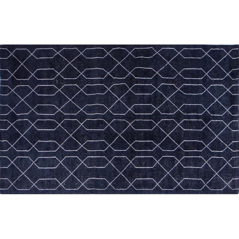Moe's Home Collection Fandango Rug 8' x 10' Blue Ivory Rectangle (JH-1012-19)