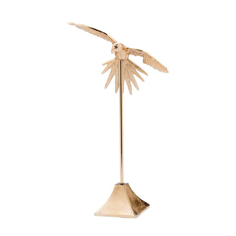 Moe's Home Collection Flying Bird On Stand in Small Gold (IX-1004-30)