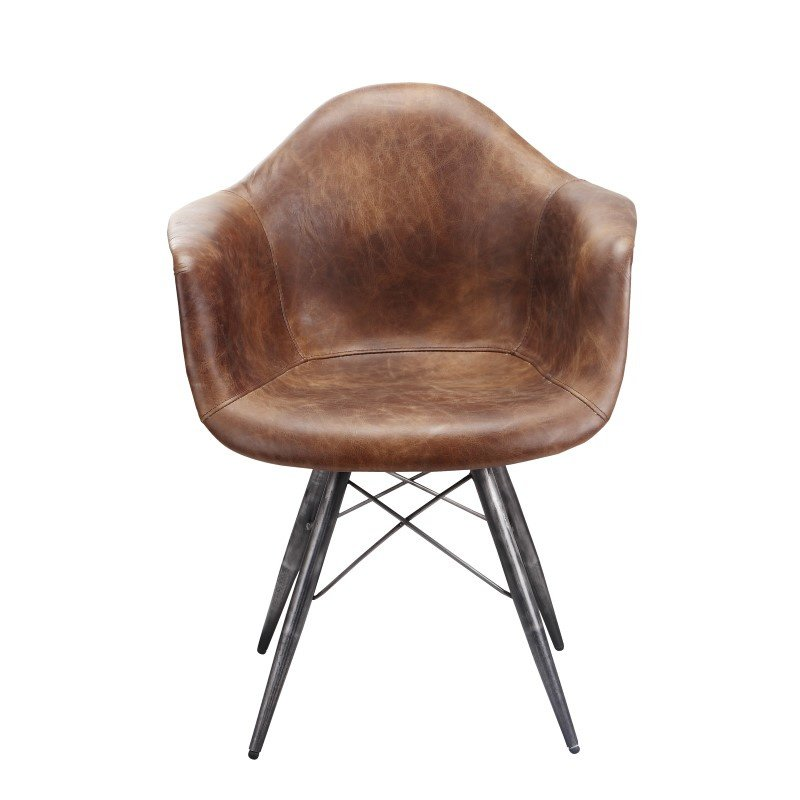 Moe's Home Collection Flynn Club Chair in Light Brown (PK-1055-03)