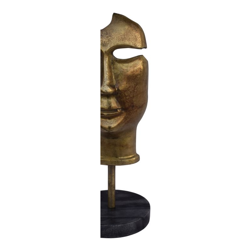 Moe's Home Collection Golden Mask On Stand (FI-1069-53)