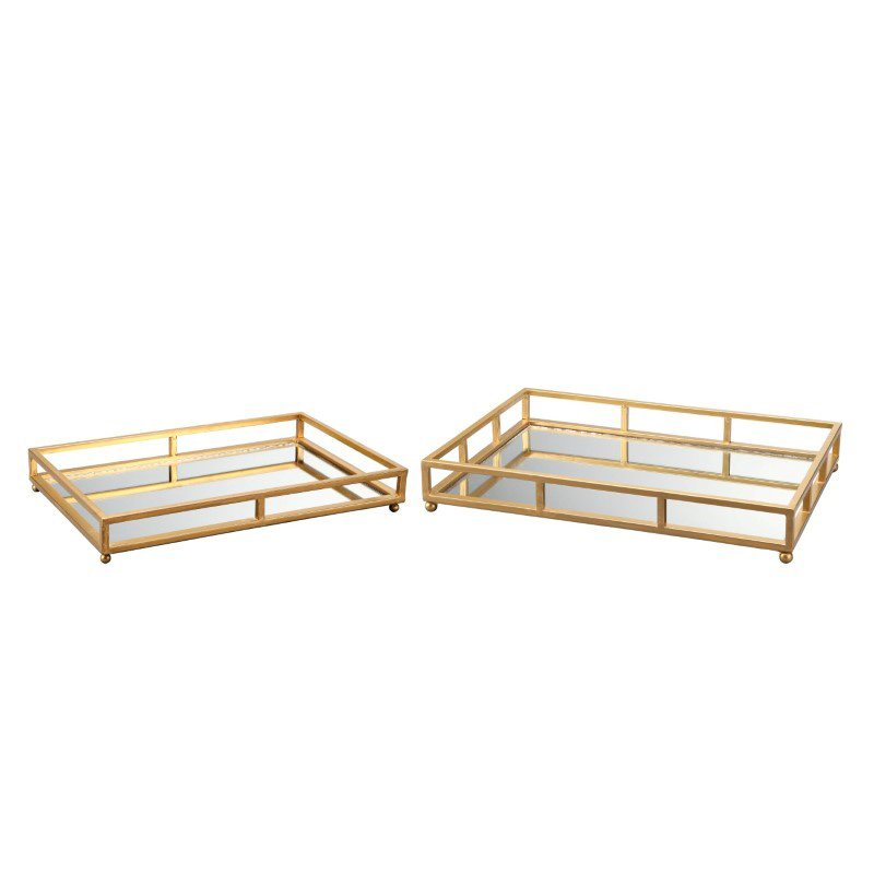 Moe's Home Collection Grid Tray Rectangle - Set of 2 (MH-1069-32)