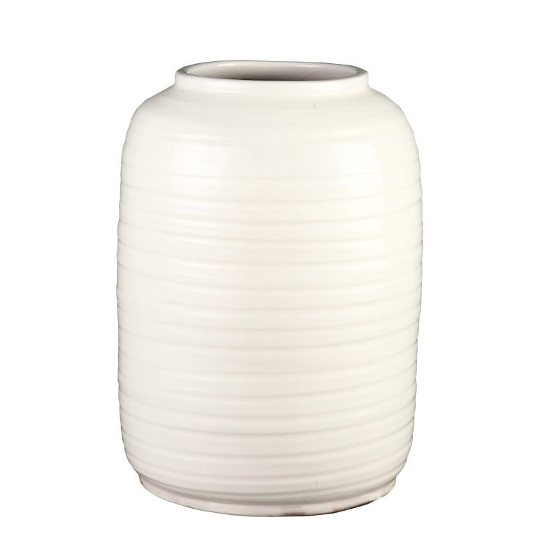 Moe's Home Collection Hastings Vase in Large Cream (PY-1110-05)