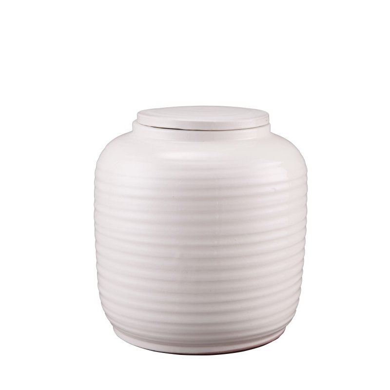 Moe's Home Collection Hastings Vase in Small Cream (PY-1111-05)