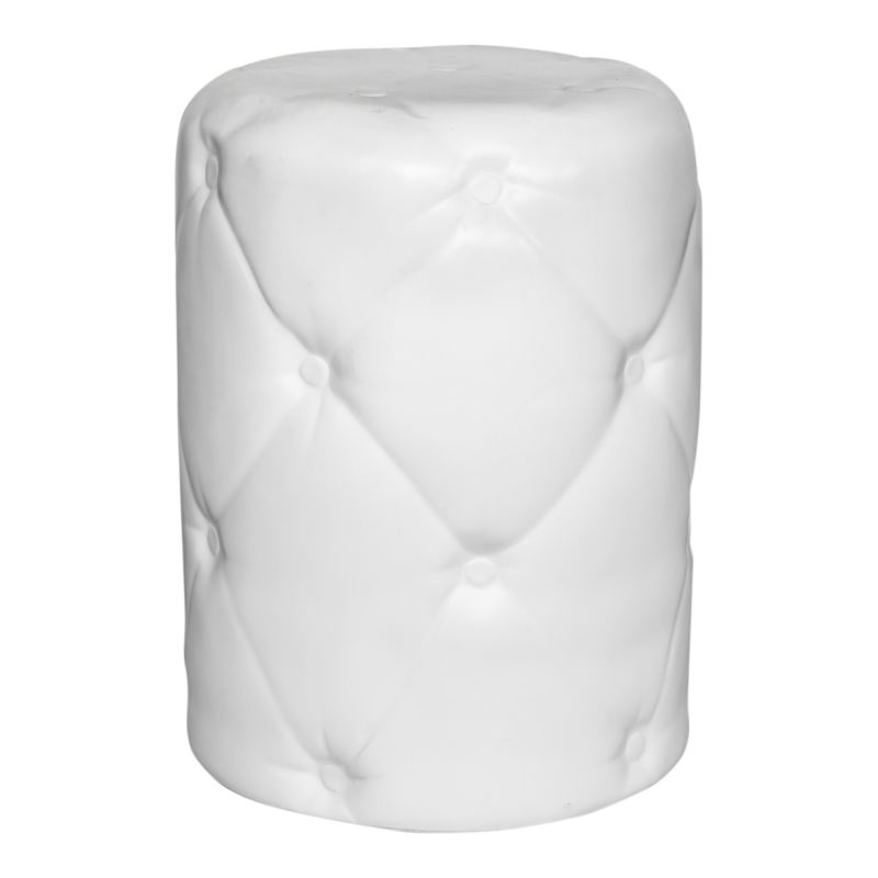 Moe's Home Collection Irony Outdoor Stool White (BQ-1043-18)