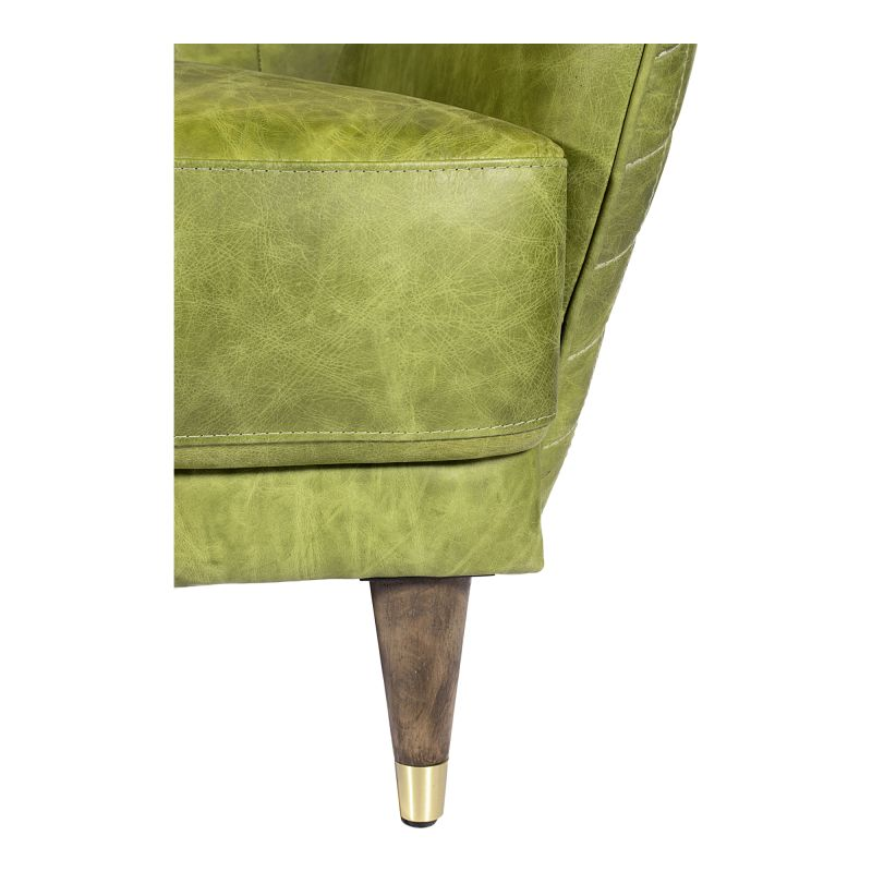 Moe's Home Collection Keaton Leather Loveseat Emerald (PK-1079-27)