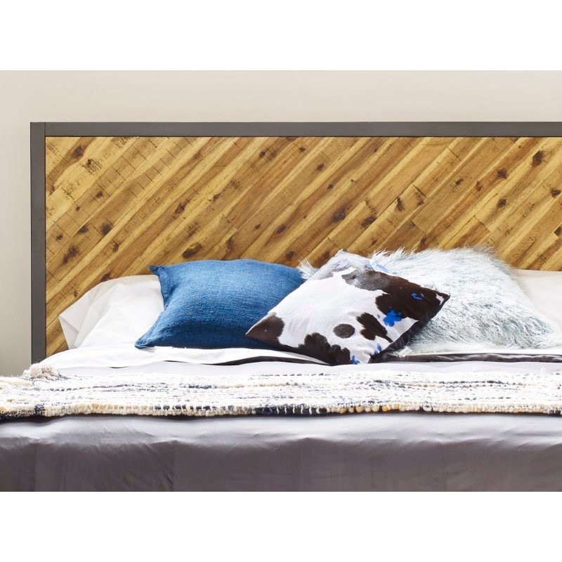 Moe's Home Collection Lamb Fur Pillow in Large Blue Snow (XU-1008-28)