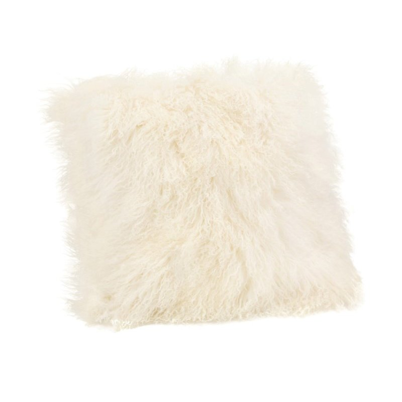 Moe's Home Collection Lamb Fur Pillow in Large Cream (XU-1005-05)
