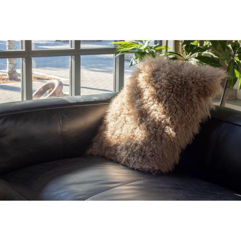 Moe's Home Collection Lamb Fur Pillow in Large Natural (XU-1005-24)