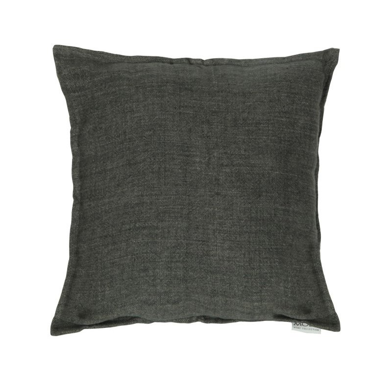 "Moe's Home Collection Lemmy Linen Feather Cushion in Charcoal 20"" x 20"" (AM-1003-07)"