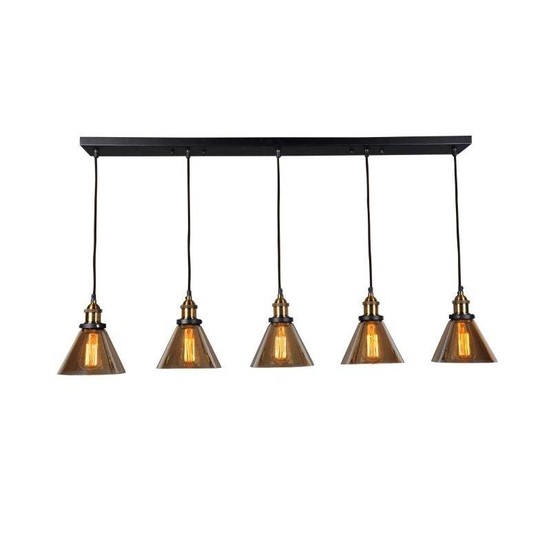 Moe's Home Collection Marta Linear 5 Light Pendant Lamp (RM-1004-31)