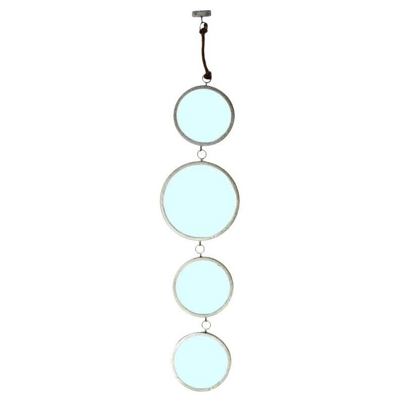 Moe's Home Collection Mirrored Circles Silver - Set of 2 (HW-1005-30)