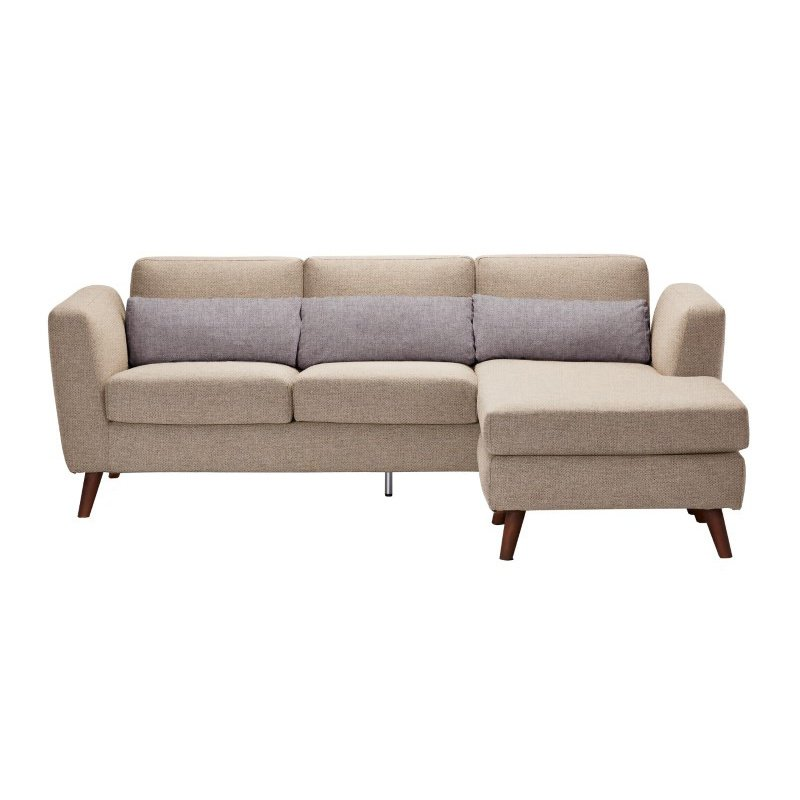 Moe's Home Collection Nano Sectional with Reversable Chaise in Cappuccino (AD-1050-14)