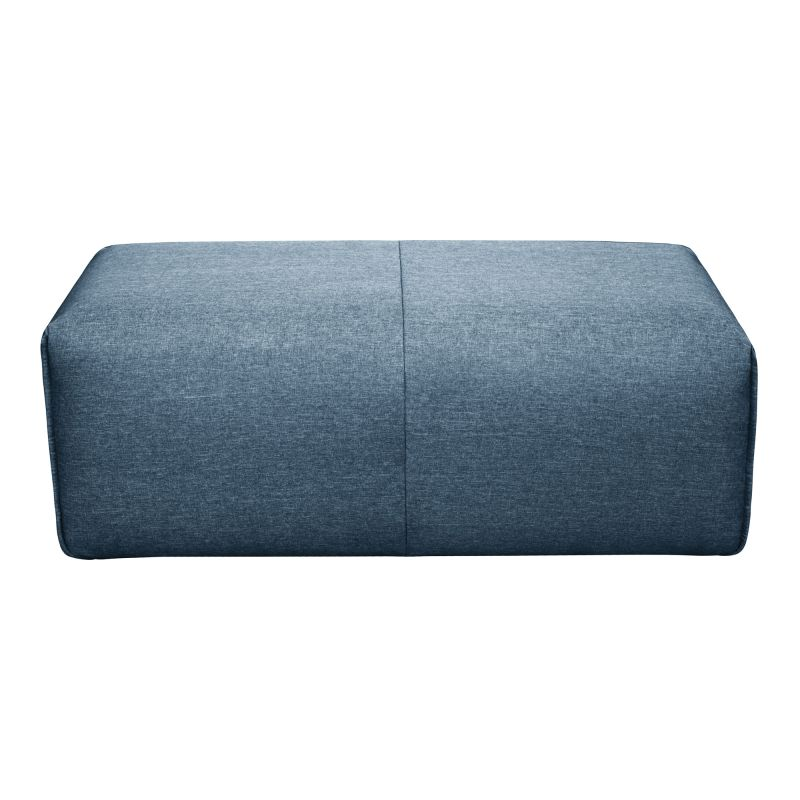 Moe's Home Collection Nathaniel Ottoman Blue (MT-1010-19)