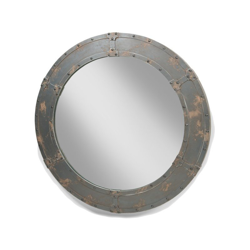 Moe's Home Collection Nautic Mirror Large Dark in Brown (HU-1032-20)