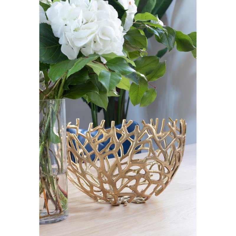 Moe's Home Collection Nest Bowls in Gold - Set of 2 (MK-1019-32)