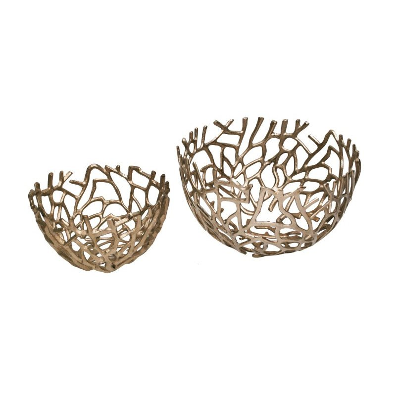 Moe's Home Collection Nest Bowls in Silver - Set of 2 (MK-1019-30)