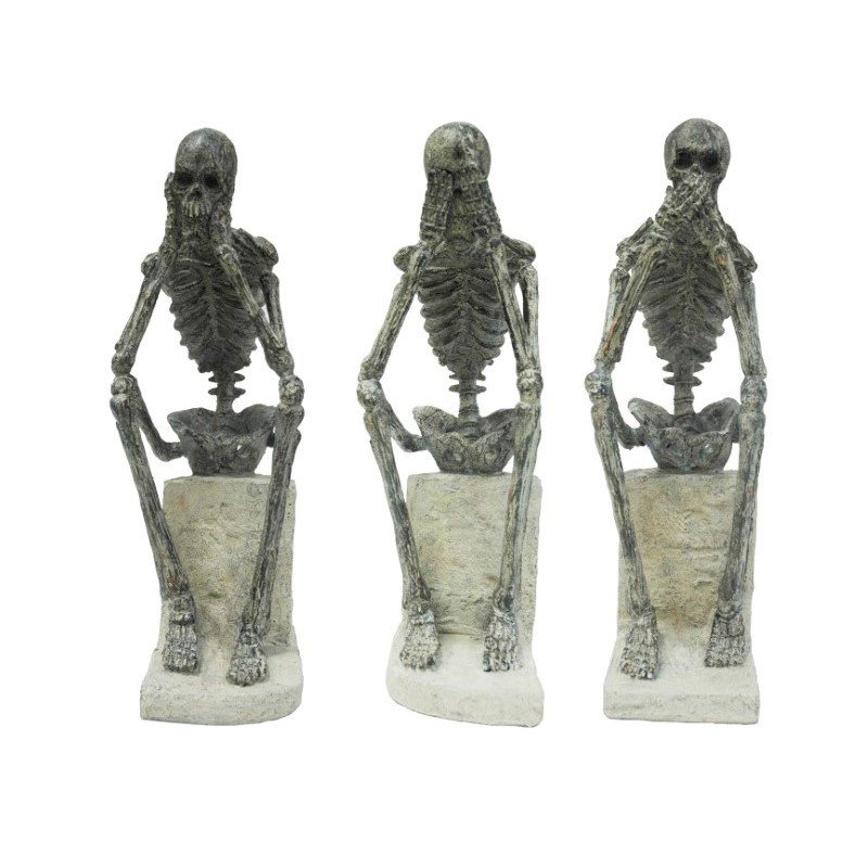 Moe's Home Collection No Evil Statues - Set of 3 (LA-1040-25)