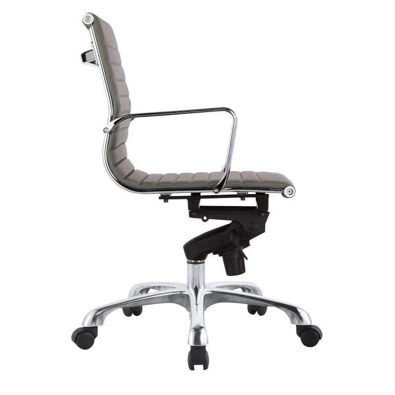 Moe's Home Collection Omega Office Chair Low Back in Grey - Set of 2 (ZM-1002-29)
