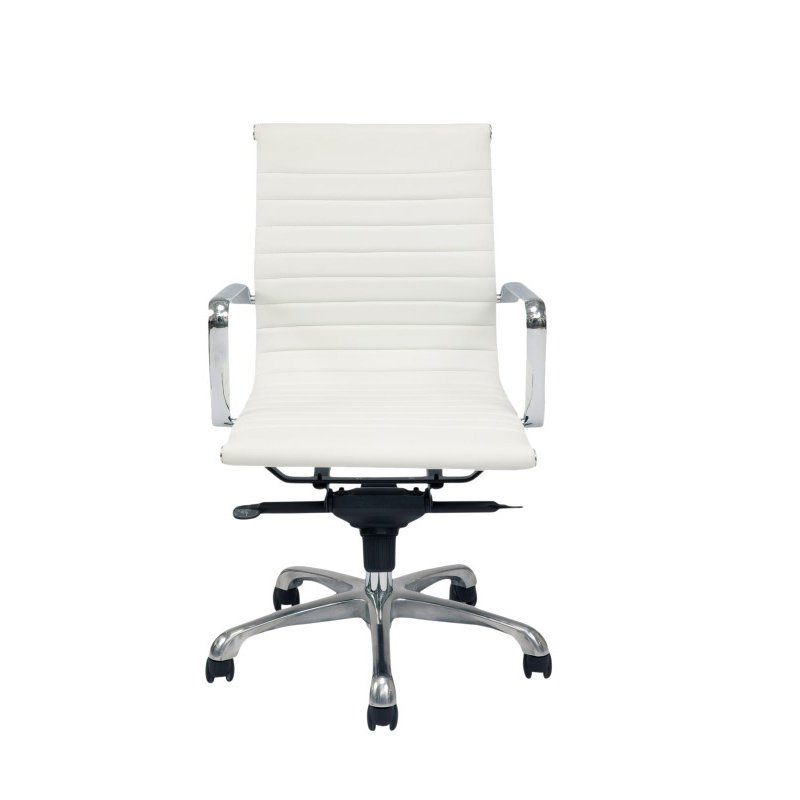 Moe's Home Collection Omega Office Chair Low Back in White - Set of 2 (ZM-1002-18)