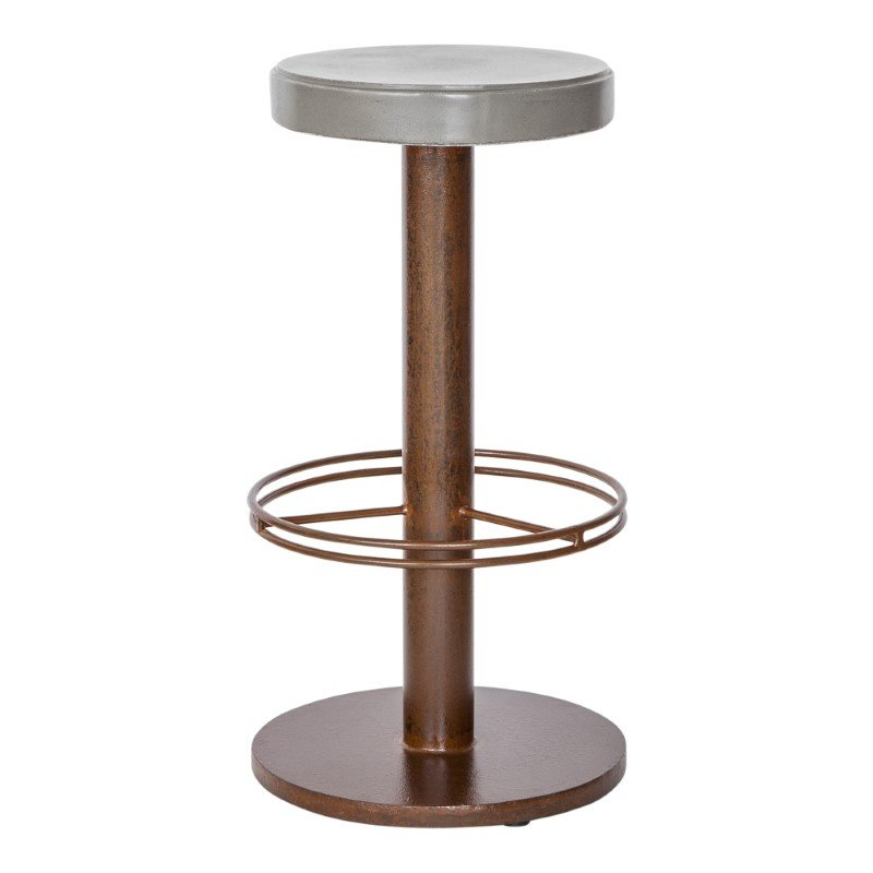 Moe's Home Collection Othello Outdoor Bar Stool in Dark Brown (BQ-1037-20)