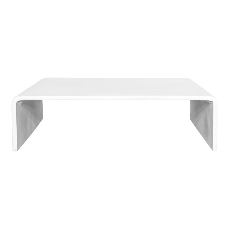 Moe's Home Collection Pearl Square Outdoor Coffee Table White (BQ-1044-18)